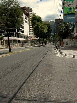 Quito, Ecuador, Street, Road, Town, Urban, City