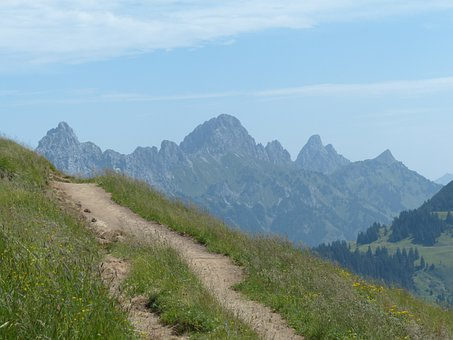 Tannheim, Red Flüh, Gimpel, Alpine, Allgäu Alps