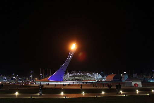 Sochi, The Olympic Flame, Torch, Olympic Park