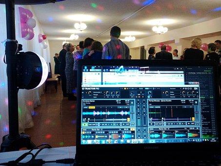 Disco, Party, Dj, Disc Jockey, Notebook, The Program