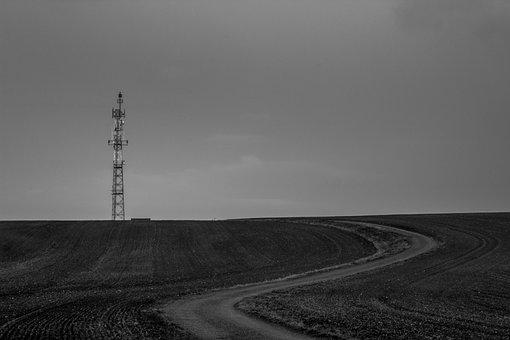 Transmitter, Krnov, Hill, Path, Twilight, Tower, Nature