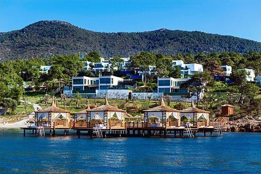 Beautiful, Villa, Bodrum, Houses, Resort, Wooden Hut