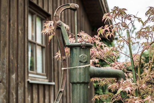 Pump, Water Pump, Garden, Irrigation, Hand Pump