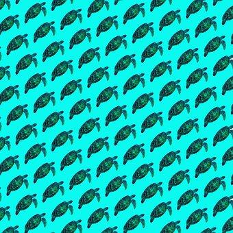 Sea Turtles, Tortoise, Underwater, Ocean, Animal, Sea