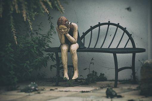 Woman, Statue, Sculpture, Bench, Art, Decoration