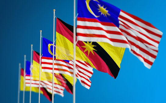 Flags, Nations, Countries, Borneo, Kuala Lumpur