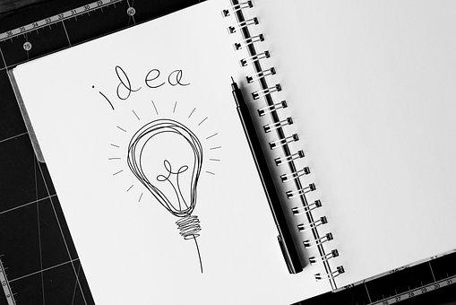 Idea, Concept, Light Bulb, Sketch, Business, Light