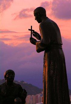 Statue, Sculpture, Saint, Priest, Catholic, Religion