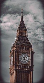 Big Ben, Clock, Tower, City, Urban, Building