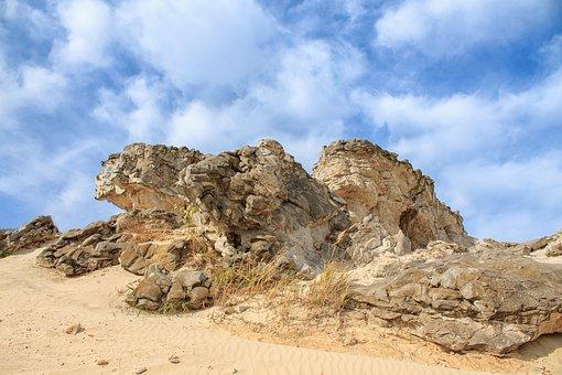 Sand, Rocks, Beach, Stones, Rock Formation, Coast