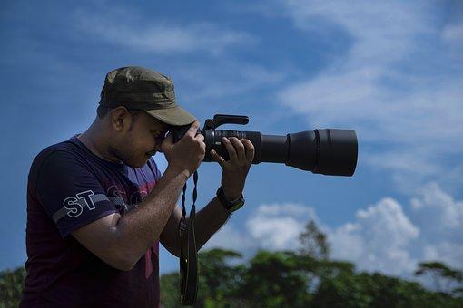 Photographer, Camera, Lens, Dslr Camera, Zoom Lens