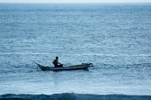 Boat, Man, Fisherman, Fishing, Sea, Ocean, Water