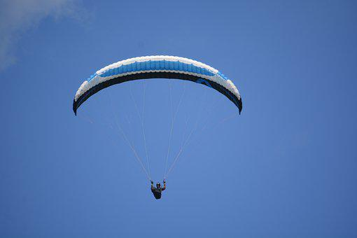 Paragliding, Parachute, Flying, Flight, Sport
