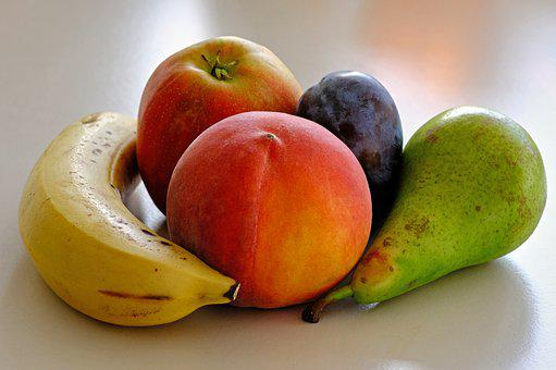 Fruits, Fresh, Produce, Fresh Fruits, Banana, Peach