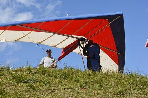 Hang Gliding, Hang Glider, Cliff, Sport
