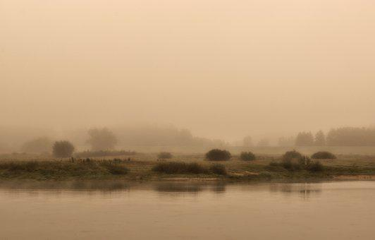River, Fog, Nature, Foggy, Mist, Water, Scenery
