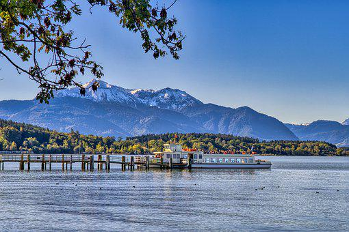 Ship, Boat, Lake, Mountains, Nature, Tourism, Leisure