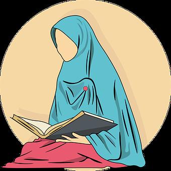 Woman, Book, Koran, Ramadan, Pray, Sacred, Muslim