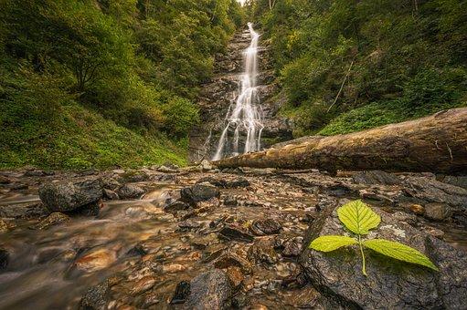 Veil Waterfall, Waterfalls, Rocks, Stream, Brook