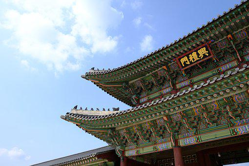 Palace, Building, Roof Tile, Tradition, Seoul, Korea