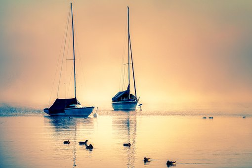 Boats, Sails, Lake, Ammersee, Sailboats, Sailing