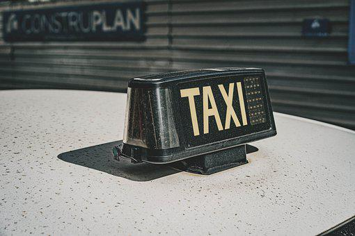 Taxi, Car, Cab, Sign, Taxi Sign, Commute, Transport
