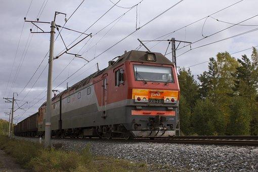 Train, Tracks, Railway, Locomotive, Wagons