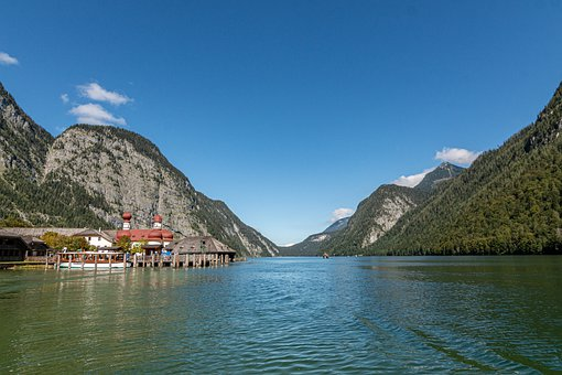 Mountains, Lake, Alpine, Chapel, National Park, Water