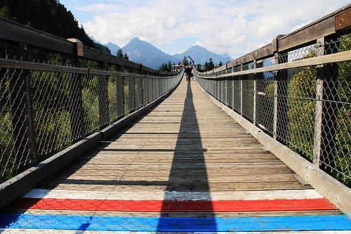 Bridge, Wooden, Treetop Path, Wooden Bridge