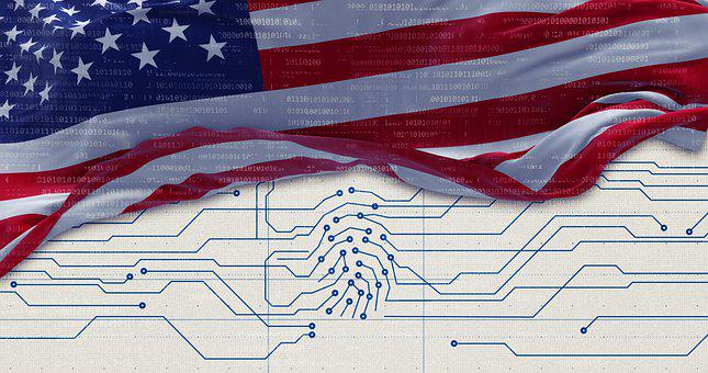 Cybersecurity, Usa, Flag, Access, America, Big Data
