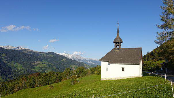 Chapel, Mountain Church, Mountains, Church, Building