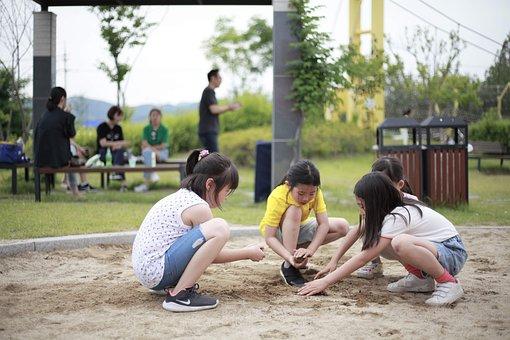 Kids, Children, Childhood, Playing, Girls, Young