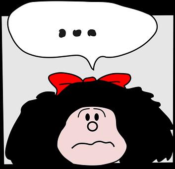 Mafalda, Comic, Character, Girl, Child, Kid