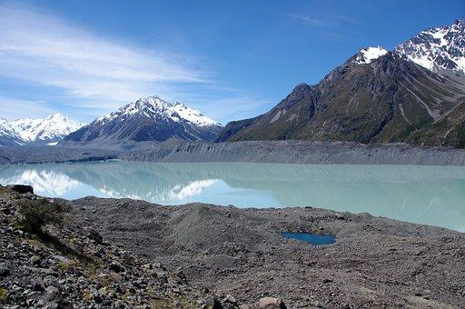 Mountains, Lake, Snow-capped Mountains, Mountain Range