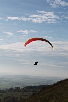 Skydiving, Parachute, Flying, Parachuting, Paragliding
