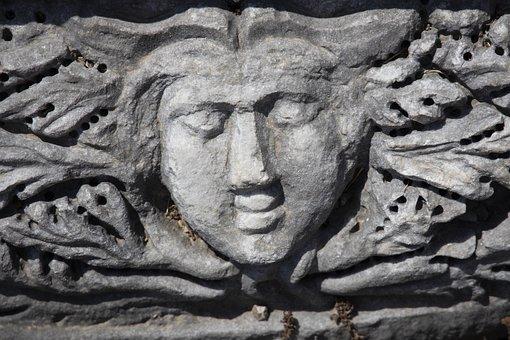 Sculpture, Statue, Woman, Stone Statue, Medusa
