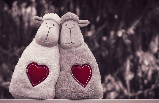 Sheep, Stuffed Toys, Toys, Stuffed Animals, Pair, Love