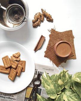 Tea, Biscuits, Snack, Food, Drink, Beverage, Tea Time