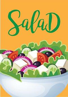 Salad, Vegetable, Icon, Vegetable Salad