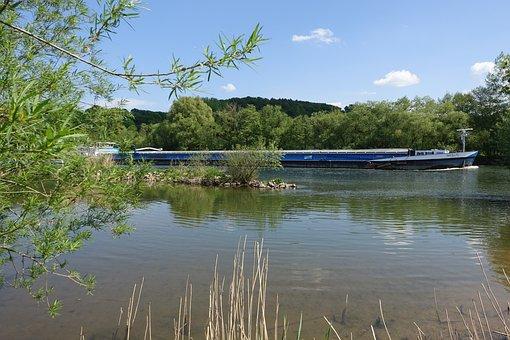 River, Ship, Nature, Cargo Ship, Water