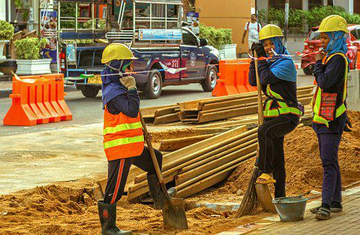 Workers, Female, Construction, Construction Workers
