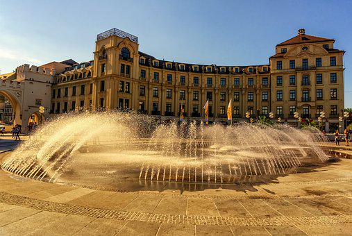 Fountain, Building, Charles Square, Ministry, Policy