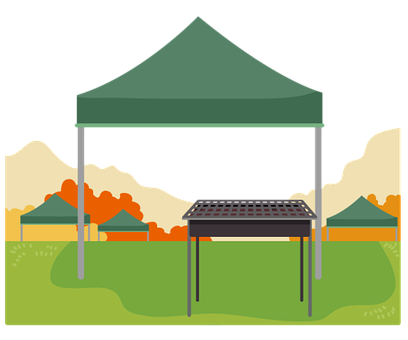 Tent, Barbecue, Camp, Camping, Grill, Icon