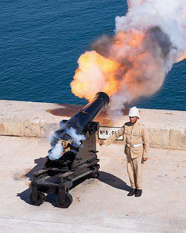 Cannon, Ceremony, Soldier, Army, Gun Salute, Military