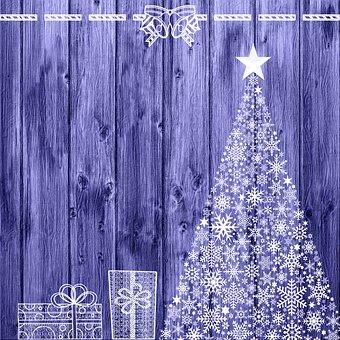 Christmas Tree, Gifts, Bells, Wood, Christmas, Fir