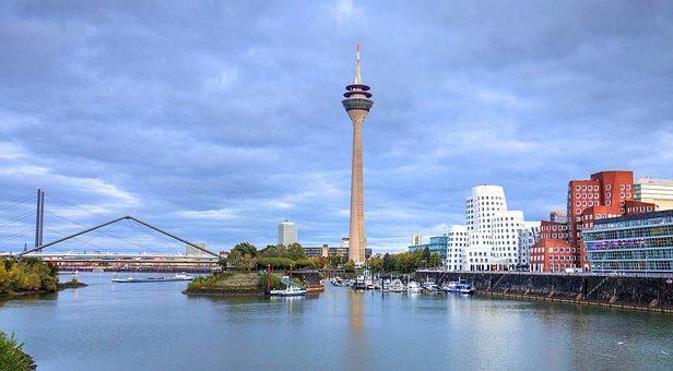 River, Harbour, Port, Tv Tower, City, View