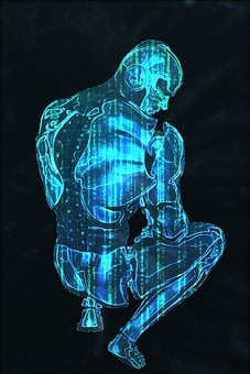 Android Hologram, Hologram, Robot, Cyborg, Android