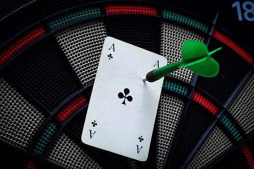 Darts, Dart Board, Ace, Card, Dart, Target, Play, Sport
