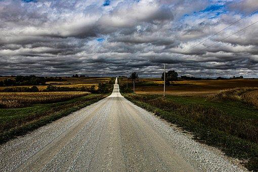 Road, Street, Fields, Meadows, Rural, Prairie, Horizon
