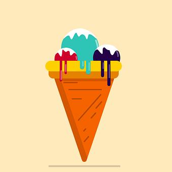 Ice Cream, Cone, Dessert, Flavors, Frozen, Sweet, Cold